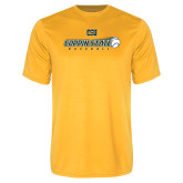 Performance Gold Tee-Coppin State Baseball Flying Ball