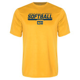 Performance Gold Tee-Coppin State University Softball Stencil