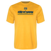 Performance Gold Tee-#HeyCoppin