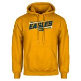 Gold Fleece Hoodie-Slanted Eagles w/ Logo