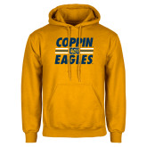 Gold Fleece Hoodie-Coppin Eagles Stacked w/ Stripes