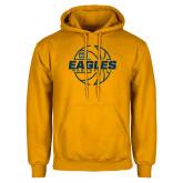 Gold Fleece Hoodie-Eagles Basketball Split Lined Ball