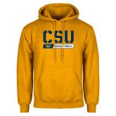 Gold Fleece Hoodie-CSU Basketball Stencil
