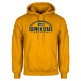 Gold Fleece Hoodie-Coppin State Club Football w/ Football