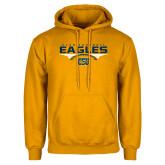 Gold Fleece Hoodie-Eagles Club Football Stacked