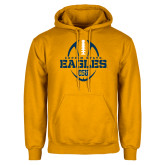 Gold Fleece Hoodie-Coppin State Eagles Football Vertical