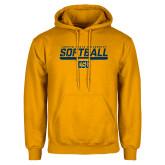 Gold Fleece Hoodie-Coppin State University Softball Stencil
