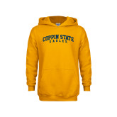 Youth Gold Fleece Hoodie-Arched Coppin State Eagles