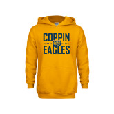 Youth Gold Fleece Hoodie-Coppin Eagles Stacked