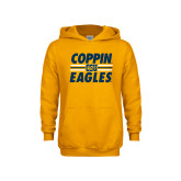 Youth Gold Fleece Hoodie-Coppin Eagles Stacked w/ Stripes