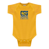 Gold Infant Onesie-CSU Coppin State Eagles