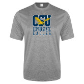 Performance Grey Heather Contender Tee-CSU Coppin State Eagles