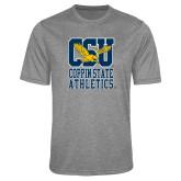 Performance Grey Heather Contender Tee-CSU Coppin State Athletics