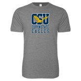 Next Level SoftStyle Heather Grey T Shirt-CSU Coppin State Eagles