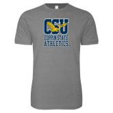 Next Level SoftStyle Heather Grey T Shirt-CSU Coppin State Athletics