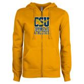 ENZA Ladies Gold Fleece Full Zip Hoodie-CSU Coppin State Athletics