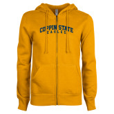 ENZA Ladies Gold Fleece Full Zip Hoodie-Arched Coppin State Eagles