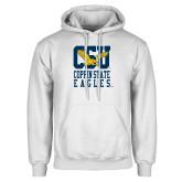 White Fleece Hoodie-CSU Coppin State Eagles