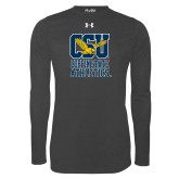 Under Armour Carbon Heather Long Sleeve Tech Tee-CSU Coppin State Athletics
