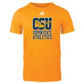 Adidas Gold Logo T Shirt-CSU Coppin State Athletics