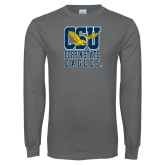 Charcoal Long Sleeve T Shirt-CSU Coppin State Eagles