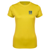 Ladies Syntrel Performance Gold Tee-CSU Coppin State Eagles
