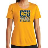 Ladies Syntrel Performance Gold Tee-CSU Coppin State Athletics