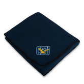 Navy Arctic Fleece Blanket-Official Logo