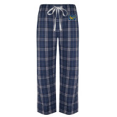 Navy/White Flannel Pajama Pant-Official Logo