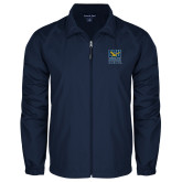 Full Zip Navy Wind Jacket-CSU Coppin State Eagles