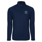Sport Wick Stretch Navy 1/2 Zip Pullover-CSU Coppin State Eagles