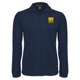 Fleece Full Zip Navy Jacket-CSU Coppin State Eagles