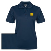 Ladies Navy Dry Mesh Polo-CSU Coppin State Eagles