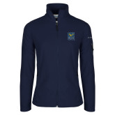 Columbia Ladies Full Zip Navy Fleece Jacket-CSU Coppin State Eagles