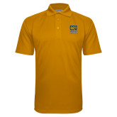 Gold Textured Saddle Shoulder Polo-CSU Coppin State Eagles
