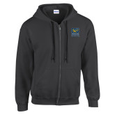 Charcoal Fleece Full Zip Hoodie-CSU Coppin State Eagles