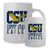Full Color White Mug 15oz-CSU Coppin State Eagles