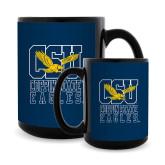 Full Color Black Mug 15oz-CSU Coppin State Eagles