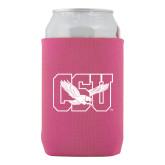 Neoprene Hot Pink Can Holder-Official Logo