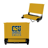 Stadium Chair Gold-CSU Coppin State Eagles