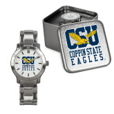 Mens Stainless Steel Fashion Watch-CSU Coppin State Eagles