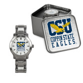 Ladies Stainless Steel Fashion Watch-CSU Coppin State Eagles