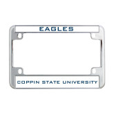 Metal Motorcycle License Plate Frame in Chrome-Eagles