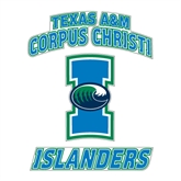 Large Decal-Texas A&M Corpus Christi Islanders, 12 in H