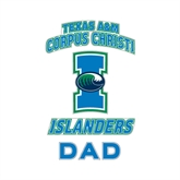 Dad Decal-Texas A&M Corpus Christi Islanders, 6 in H