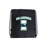 Black Drawstring Backpack-Islanders w/I