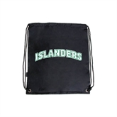Black Drawstring Backpack-Arched Islanders