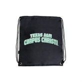 Black Drawstring Backpack-Arched Texas A&M Corpus Christi