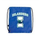 Royal Drawstring Backpack-Islanders w/I