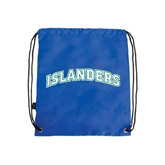 Royal Drawstring Backpack-Arched Islanders
